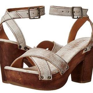 FP Bed Stu Madeline distressed platform sandals